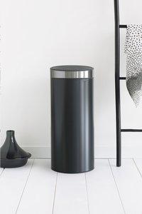Brabantia Afvalemmer Touch Bin New matt black/inox 30 l-Afbeelding 1