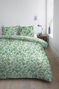 Ambiante Dekbedovertrek Monstera green katoen 260 x 220 cm-Afbeelding 2