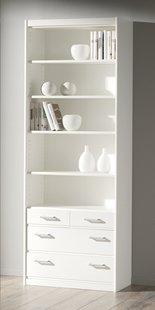 Armoire de rangement 4 tiroirs Soft Plus H 194 cm blanc
