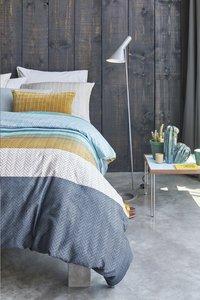 Beddinghouse Housse de couette Linee blue satin de coton 140 x 220 cm-Image 3