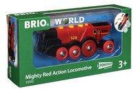 BRIO World 33592 Grote rode locomotief op batterijen-Linkerzijde