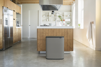 Brabantia Afvalemmer Touch Bin Bo mineral concrete grey 2 x 30 l-Afbeelding 5