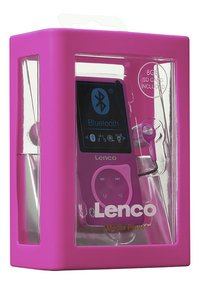 Lenco mp4-speler Bluetooth MP-208 8 GB roze-Linkerzijde