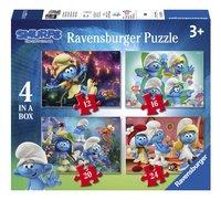 Ravensburger Puzzel 4-in-1 De Smurfen en het Verloren Dorp