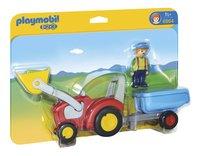 Playmobil 1.2.3 6964 Fermier avec tracteur et remorque-Avant