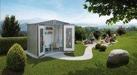 Biohort Tuinhuis met dubbele deur Europa kwartsgrijs 84 x 244 cm-Afbeelding 1