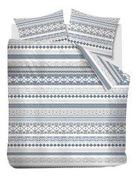 Beddinghouse Dekbedovertrek Vigo bluegrey flanel 260 x 220 cm-Vooraanzicht