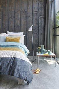 Beddinghouse Dekbedovertrek Linee blue katoensatijn-Afbeelding 4