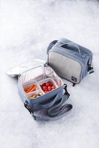 Rixx Lunchtas H 17 cm grijs/donkerblauw-Afbeelding 1