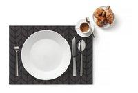 Day Drap Set de table Non-slip gris/noir L 45 x Lg 32 cm - 2 pièces-Image 1