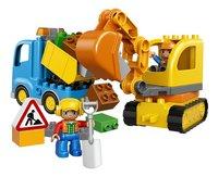 LEGO DUPLO 10812 Le camion et la pelleteuse-Avant