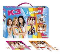 Studio 100 puzzel 4-in-1 K3 met handvat-Vooraanzicht