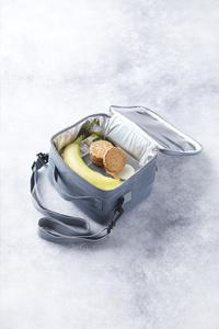 Rixx Sac à lunch H 19 cm gris/bleu foncé-Image 2
