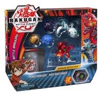 Bakugan Battle Pack 5 pièces - Pyrus Howlkor & Haos Mantonoid-Côté gauche