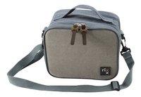 Rixx Lunchtas H 17 cm grijs/donkerblauw-Rechterzijde