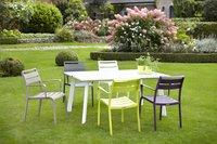 Table de jardin Nice blanc 165 x 100 cm-Image 4
