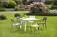 Table de jardin Nice blanc 100 x 100 cm-Image 3