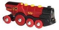 BRIO World 33592 Grote rode locomotief op batterijen-Vooraanzicht
