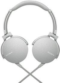 Sony hoofdtelefoon MDR-XB550AP wit/grijs
