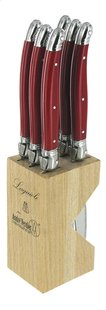 Laguiole 6 steakmessen Rivage rood