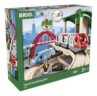 BRIO World 33512 Circuit plateforme voyageurs-Côté gauche