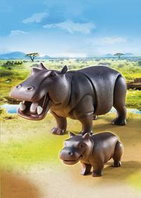 Playmobil Wild Life 6945 Nijlpaard met jong-Afbeelding 1
