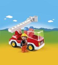 Playmobil 1.2.3 6967 Camion de pompier avec échelle pivotante-Image 1