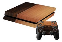 PS4 skins Wood mix pour console + 2 skins pour manettes