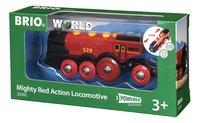BRIO World 33592 Grote rode locomotief op batterijen-Rechterzijde