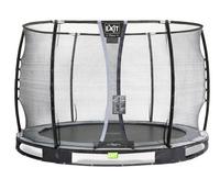 EXIT inbouwtrampoline met veiligheidsnet Elegant Ground Premium Deluxe Ø 3,05 m zwart-Vooraanzicht