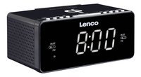 Lenco wekkerradio CR-550 zwart-Linkerzijde