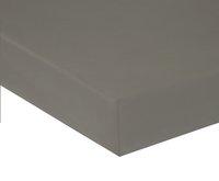 Home lineN hoeslaken Bicolore lichtgrijs flanel 160 x 200 cm