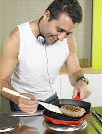 Le Creuset grillpan L 20 x B 20 cm kersrood-Afbeelding 1