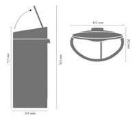 Brabantia Afvalemmer Touch Bin Recycle brilliant steel 10/23 l-Artikeldetail