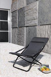 Lafuma chaise longue Transabed XL Plus Air Comfort New Acier-Image 1