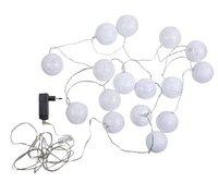 Guirlande lumineuse LED avec boules de laine L 5,25 m blanc chaud