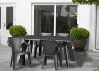 Allibert chaise de jardin Dante - dossier bas gris graphite-Image 1
