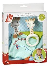 Sophie la girafe anneau de dentition & doudou Caoutchou'doux-Côté gauche