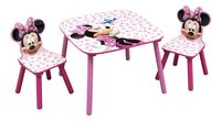 Table avec 2 chaises Minnie Mouse