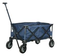 Campman Chariot pliant bleu-commercieel beeld