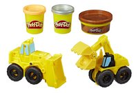 Play-Doh Wheels Graafmachine en bulldozer-Vooraanzicht