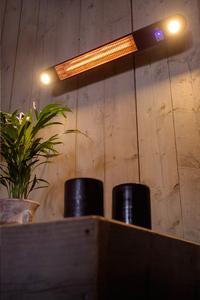 Elektrische terrasverwarmer Ellips 1500 W zwart-Afbeelding 1