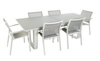 Ocean Ensemble de jardin Luca/Laos gris clair/blanc avec table à rallonge-Avant