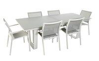 Ocean Tuinset Luca/Laos lichtgrijs/wit met verlengbare tafel