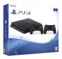 PS4 console Slim 1 TB met 2 DualShock 4-controllers