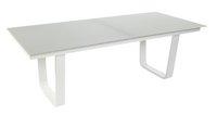 Ocean Table de jardin à rallonge Luca gris clair/blanc L 220 x Lg 100 cm-Avant