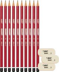 Bic crayon graphite en bois  HB - 10 pièces-Avant