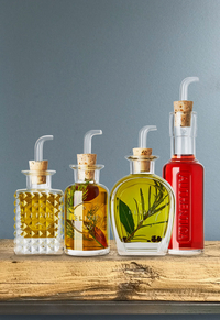 Luigi Bormioli Set à huile et à vinaigre Mixology Elixir 4 pièces-Image 2