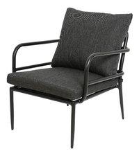 Chaise lounge Como noir-Côté droit