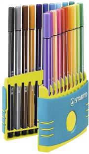 Stabilo feutre Pen 68 Color Parade turquoise - 20 pièces-Avant